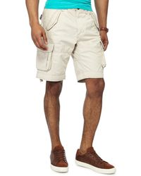 Racing Green - Natural Regular Fit Cargo Shorts - Lyst