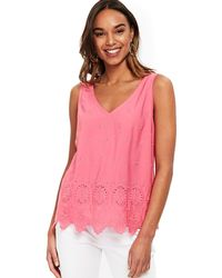 eacfd8eca6f177 Wallis Pale Pink V-neck Camisole Top in Pink - Lyst