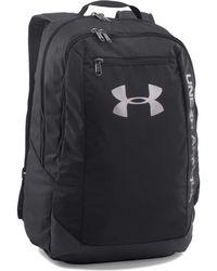 49e053ca37 Under Armour - Black  heatgear®  Hustle Leather Backpack - Lyst
