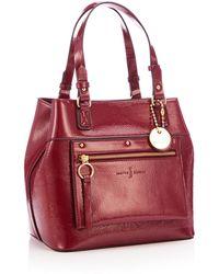 J By Jasper Conran Faux Patent 'cannes' Grab Bag - Red