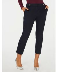 Dorothy Perkins - Navy Button Tab Trousers - Lyst