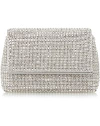 Dune - Silver 'everlina' Diamante Embellished Clutch Bag - Lyst