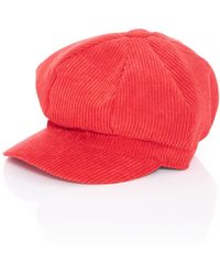 Quiz - Red Cord Baker Boy Hat - Lyst