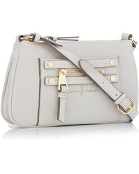 J By Jasper Conran - Grey Zip Detail Cross Body Bag - Lyst