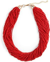 Phase Eight - Red Harley Bead Multirow Necklace - Lyst
