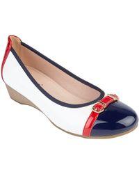 Lotus - White Patent 'bisera' Ballet Court Shoes - Lyst