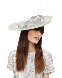 Phase Eight - Grey Eden Large Disc Bow Fascinator - Lyst