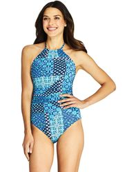bad4e5a16 Figleaves Sunrise Underwired Bandeau Cut Out Swimsuit D-g Cup in Blue - Lyst