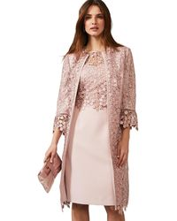 Phase Eight Mariposa Lace Occasion Coat - Pink
