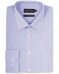 Double Two - Purple Trio Stripe Formal Shirt - Lyst