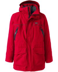 Lands' End Squall Insulated Waterproof Park - Red