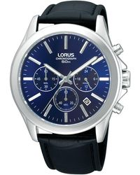 Lorus Men's Blue Chronograph Watch Rt389ax9