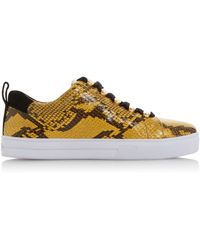 best service 9a31f bf540 Reptile Leather 'emerse' Lace Up Trainers - Multicolour