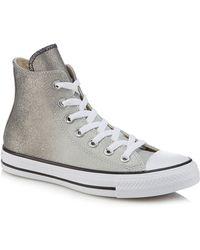 e24b4b1b4ffe Converse - Metallic Glitter  all Star  Hi-top Trainers - Lyst
