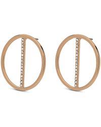 Pilgrim - Gold Plated 'kama' Crystal Earrings - Lyst