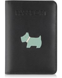 Radley - Leather 'heritage Dog' Passport Cover - Lyst