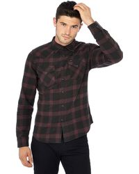 Lee Jeans - Dark Red Checked Long Sve Slim Fit Western Shirt - Lyst