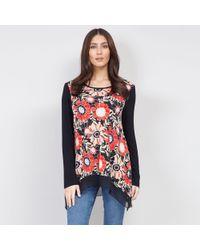 6ef93ea6264 Izabel London Black Bell Sleeve Floral Print Top in Black - Lyst
