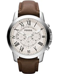 Fossil - Men's Brown Round Chronograph Watch Fs4735 - Lyst