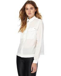 G-Star RAW - White Cropped Shirt - Lyst