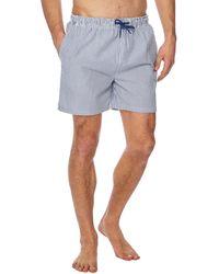 Red Herring - Blue Stripe Print Swim Shorts - Lyst