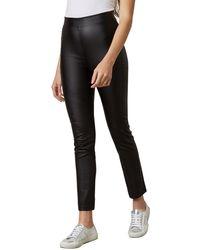 2cabe839c6fdd4 Saint Tropez Faux Leather Leggings in Black - Lyst