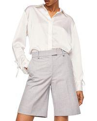 Mango - Grey 'raim' Flecked Shorts - Lyst