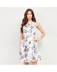 Izabel London - Floral Vintage Look Skater Dress - Lyst