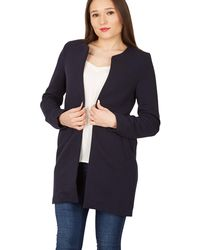 Apricot - Navy Ribbed Open Jacket - Lyst