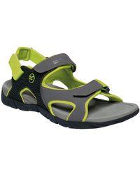 Regatta Mens Rafta Sport Lightweight Sandals Men's Sandals In Multicolour - Green