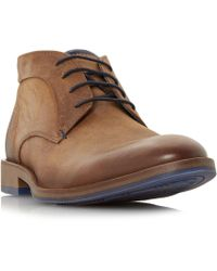 Dune - Tan 'claybourne' Lace Up Chukka Boots - Lyst