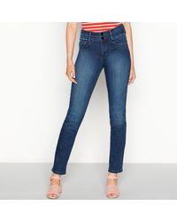 J By Jasper Conran Dark Blue 'lift And Shape' High Waisted Straight Leg Jeans
