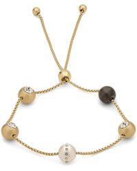 Pilgrim - Plated 'darla' Crystal Bracelet - Lyst