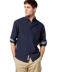 Racing Green - Big And Tall Navy Oxford Tailored Fit Shirt - Lyst