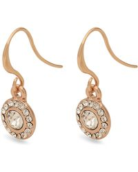 Pilgrim Rose Gold Plated Clementine' Crystal Drop Earrings - Metallic