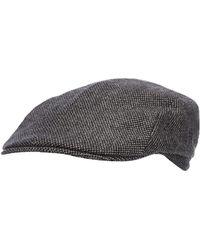 5de5e14d4fdb1 J By Jasper Conran - Grey Textured Flat Cap With Wool - Lyst