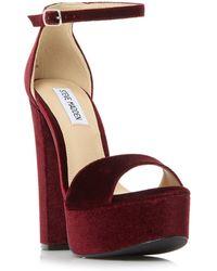 5c6cbe305b7b Steve Madden Gonzo Satin Platform Sandals in Pink - Lyst