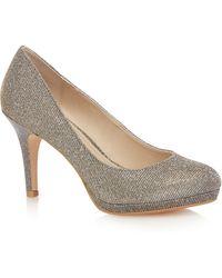 Début Dark Grey Glitter 'dobbie' High Stiletto Heel Court Shoes