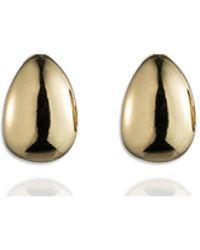 Anne Klein - Gold Hoop Clip On Earrings - Lyst