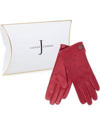 J By Jasper Conran - Bright Pink Suede Gloves - Lyst