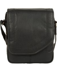 Cultured London - Black 'trip' Small Leather Despatch Bag - Lyst