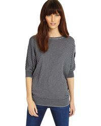 Phase Eight - Mix Stripe Becca Batwing Jumper - Lyst