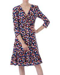 Jolie Moi - Retro Geometric Flared Dress - Lyst