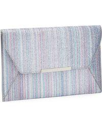 Faith - Multicoloured Glimmer 'party' Envelope Clutch Bag - Lyst