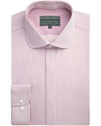 Racing Green - Fraser Tailored Fit Stripe Formal Shirt - Lyst
