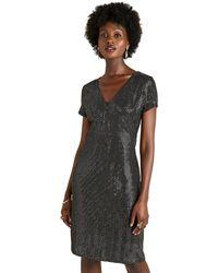 Yumi' - Silver Sequin 'boston' Evening Dress - Lyst
