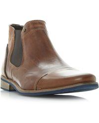 b7679ce8c2d Men's 'chili' Blue Sole Toecap Leather Chelsea Boots - Brown