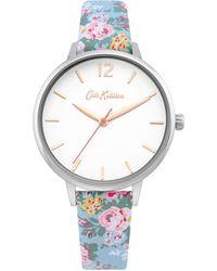 Cath Kidston Ladies Floral Strap Watch Ckl067u - Blue