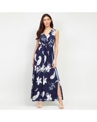 Izabel London Floral Print Jumpsuit - Blue