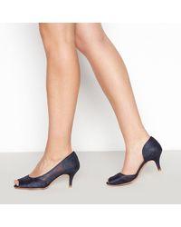 Début Lace 'dee Dee' Stiletto Heel Wide Fit Court Shoes - Blue